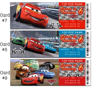 Hot Wheels Custom Birthday Invitations Cars Ticket Card