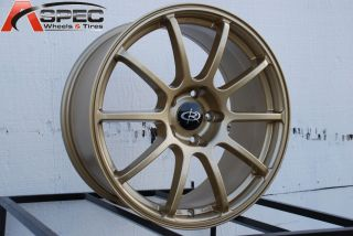 18X8.5 ROTA G FORCE 5X114.3 +48 GOLD WHEEL FITS SUBARU STI RSX TSX RX8