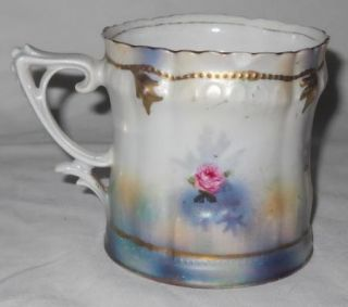 An Antique RS Prussia Floral Mug