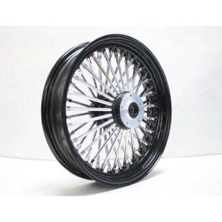 Black Chrome Front Single Disc Wheel 16x3 5 for 86 99 Harley
