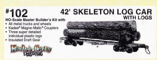 Skeleton Log Car Kit 102 Highly Detailed Logging Equipment with Die