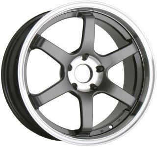 18 Staggered Wheels Rims Nissan 350Z 370Z No Turbo Gunmetal Color
