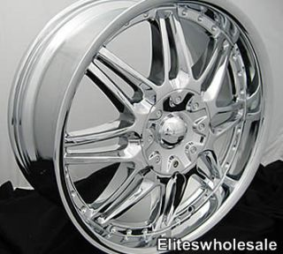 20x8 5 Chrome Cartel Wheels Rims 6x5 5