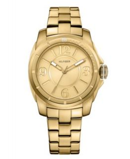 Tommy Hilfiger Watch, Womens Gold Tone Stainless Steel Bracelet 40mm