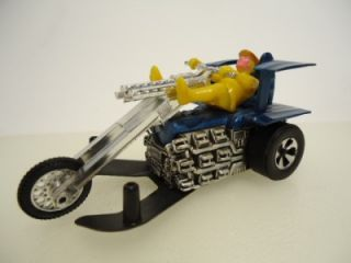 Vintage Hot Wheels Chopcycles Sourkraut Blue Trike Motorcycle Sizzlers