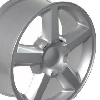 20 Silver Tahoe Wheels 275 55 Tires Fit Chevrolet