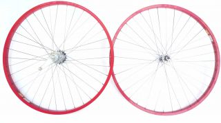 Cruiser Bike 26 x 1 75 Coaster Brake Front Rear Wheels Rims Red