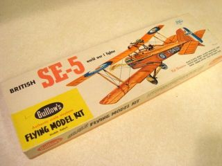 Guillows British SE 5A Model Airplane Kit Kit 104