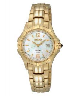 Seiko Watch, Womens Gold Tone Stainless Steel Bracelet 28mm SXDC94
