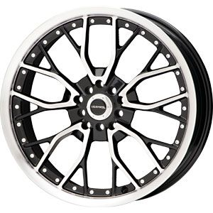 17X7.5 5 110/5 115 Liquid Metal Wire Black Machined Face Wheels/Rims