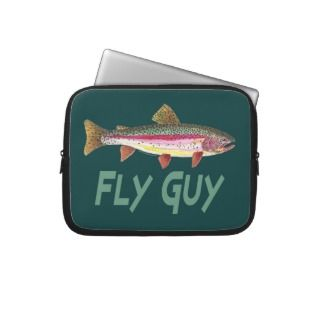 Rainbow Trout Fly FIshing Laptop Computer Sleeves