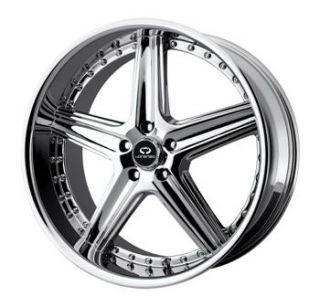 20x8 5 Chrome Wheels Rims Lorenzo WL019 5x112