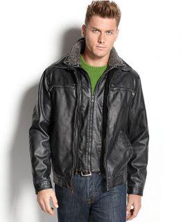 Calvin Klein Jacket, Faux Leather Jacket   Mens Coats & Jackets