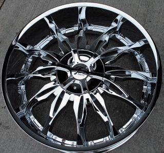 RVM 107 26 Chrome Rims Wheels Tahoe Avalanche Escalade