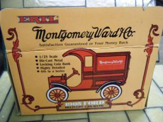 Ertl Montgomery Ward 1905 Delivery Car Bank 9230