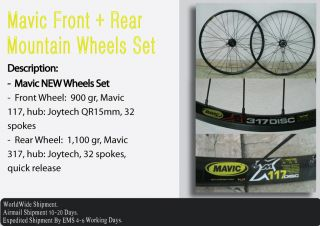 Mavic Mountain Wheels Set Rear Front Bike Bicycle International
