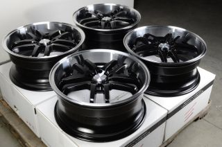 Black Wheels ES300 ES330 Lexus Sorento Eclipse Civic 5 Lug Rims