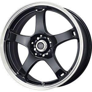 New 20X10 5 114.3 Drifter Gloss Black Machined Wheel/Rim