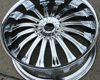 Elite Monarch W114 22 Chrome Rims Wheels Dakota 6 Lug 97 04 22 x 9 0