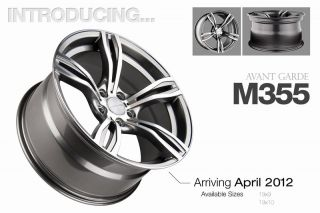 19 Avant Garde M355 Staggered Wheels Rims Fit BMW E60 61 525i 535i