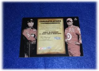 2010 PP Wheels Head to Toe Driver Worn Hats Jamie McMurray Juan Pablo