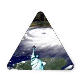 Super Storm Sandy 2012,Eye of the storm_ Triangle Stickers