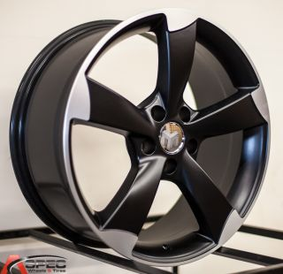 18 RS3 Style Black Wheel Fit Audi A4 B4 B5 B6 A5 A6 A7 A8 S4 S5 Q5