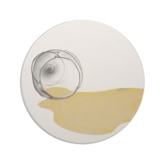 spilled white wine glass drinks coaster