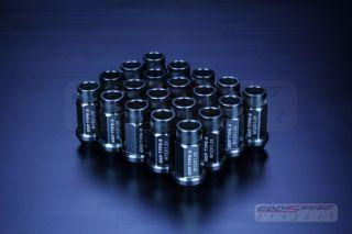 GODSPEED T 3 WHEEL RIM RACING LUG NUTS 50MM 20 PIECE M12 X 1.25 OPEN
