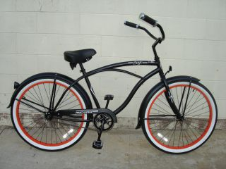 26 Beach Cruiser Bicycle Bike Onyx Men Micargi Matt Black