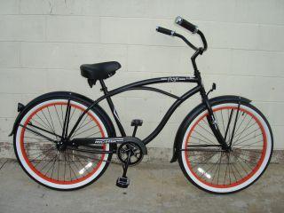 26 Beach Cruiser Bicycle Bike Onyx Men Micargi Matt Black