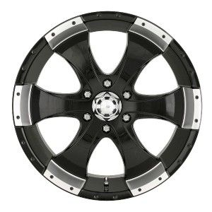 17 inch ion 136 Black Wheels Rims 5x5 5x127 Jeep Wrangler