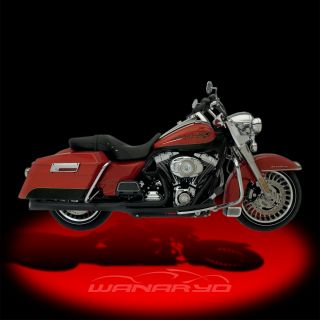 Kerker Supermeg 2 Into 1 Exhaust Systems Black for 2010 2013 Harley