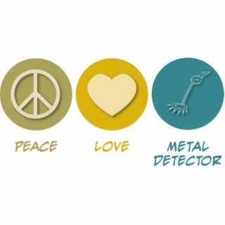 Peace Love Metal Detector Cut Out