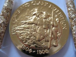 oz 24K Gold Over Sterling Silver Lewis and Clark Longines Coin $ Ins