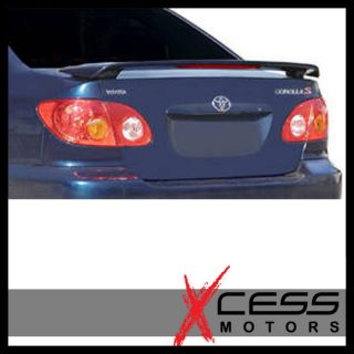 03 08 Toyota Corolla OE Factory Style ABS LED Trunk Spoiler Wing Lip