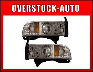 1994 2001 Dodge RAM CCFL Rim LED Projector Headlights