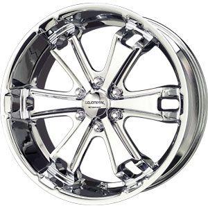 New 20x9 6x139 7 Liquid Metal Dyno Chrome Wheels Rims