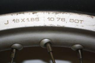 Honda CR125 1979 Elsinore 18 Rear Wheel Rim Tire Spoke CR125R Vintage