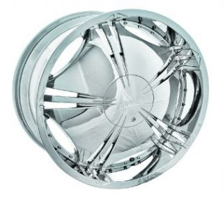 22 Shooz 002 Chrome Wheels Rims Tires Package 6x135 6x139 7