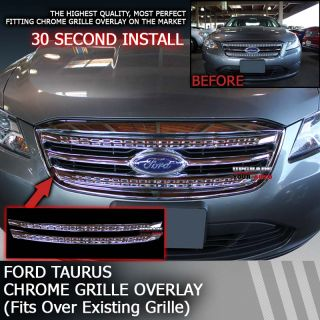 Perfectly Fits: 2010 2012 Ford Taurus Chrome Grille Overlay Factory