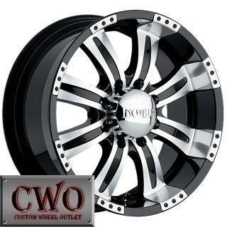20 Black Incubus Poltergeist Wheels Rims 5x127 5 Lug Jeep Wrangler