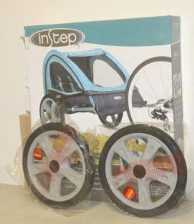 Instep Double Take 2 Bicycle Trailer Light Blue Gray 12 QE127