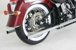 Silver Bullet Drag Pipes Samson Harley Softail s 232