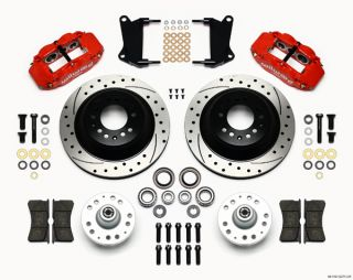 Wilwood Disc Brake Kit 64 74 GM 13 12 1 Piece Drilled Rotors 6 4