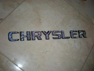Iced Out Emblems Black Chrome Crystal Letters Numbers