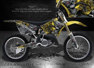 Suzuki 2001 2013 RM125 RM250 2 Stroke Graphics Decals Machinehead