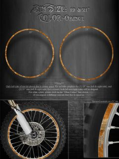 KTM WHEEL KIT ORANGE RIM GRAPHICS 19 & 21 THE OUTLAW SX450F SX250F