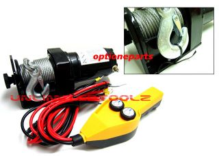 12V Remote Control 2000LBS Cap. Power Cable Winch Kit Automotive Boat