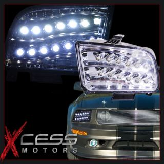 05 09 Ford Mustang Chrome High Power LED Projector Headlights